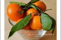 A delicious looking bowl of satsuma oranges.