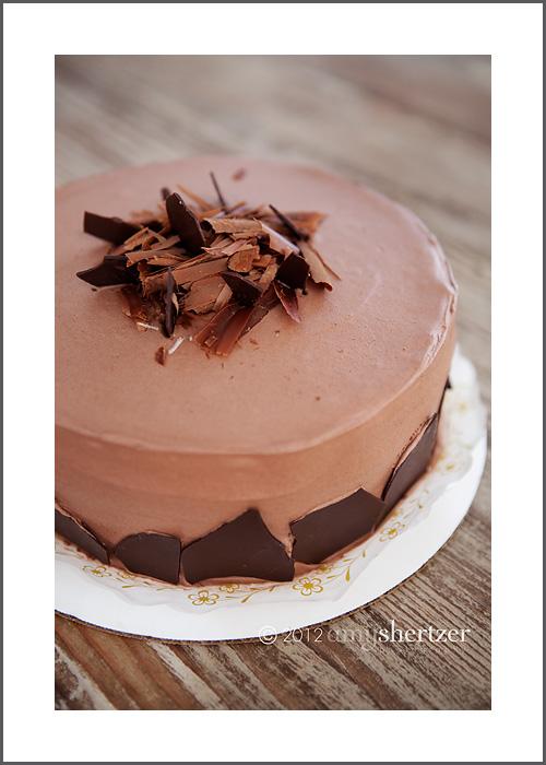 A beautiful chocolate cake at David Schat