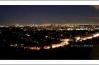 Downtown Los Angeles at night from The J. Paul Getty Museum
