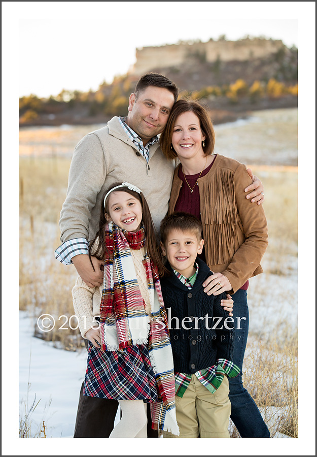 And we lucked out with a light dusting of snow and a perfect golden  Colorado afternoon. Temps were just chilly enough to encourage family  snuggling but not ... e1ed4aa92
